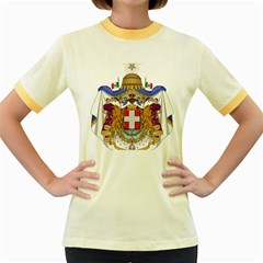 Greater Coat of Arms of Italy, 1870-1890  Women s Fitted Ringer T-Shirts