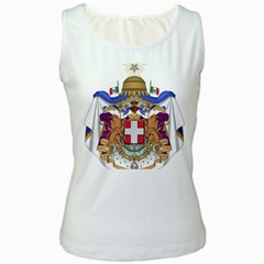 Greater Coat of Arms of Italy, 1870-1890  Women s White Tank Top