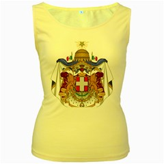 Greater Coat of Arms of Italy, 1870-1890  Women s Yellow Tank Top