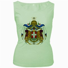 Greater Coat of Arms of Italy, 1870-1890  Women s Green Tank Top