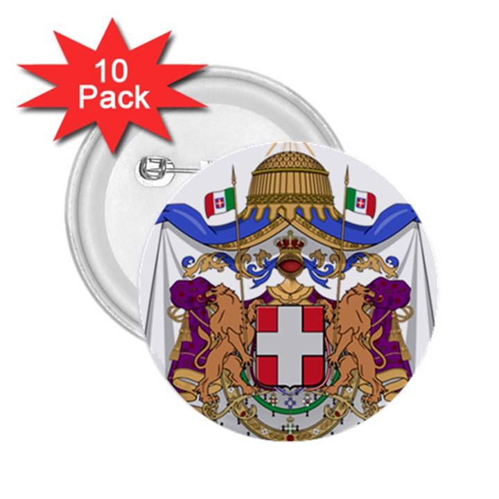 Greater Coat of Arms of Italy, 1870-1890  2.25  Buttons (10 pack)