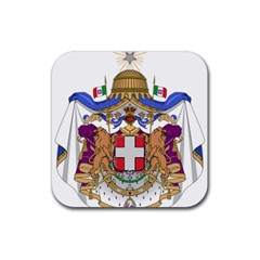 Greater Coat of Arms of Italy, 1870-1890  Rubber Square Coaster (4 pack)