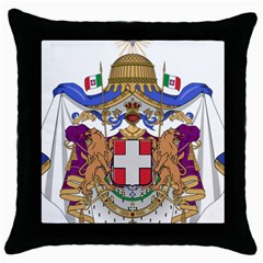 Greater Coat of Arms of Italy, 1870-1890  Throw Pillow Case (Black)