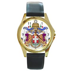 Greater Coat of Arms of Italy, 1870-1890  Round Gold Metal Watch