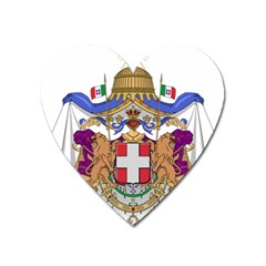 Greater Coat of Arms of Italy, 1870-1890  Heart Magnet