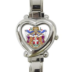 Greater Coat of Arms of Italy, 1870-1890  Heart Italian Charm Watch