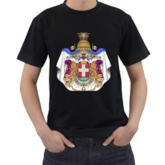 Greater Coat of Arms of Italy, 1870-1890  Men s T-Shirt (Black) (Two Sided)