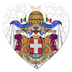 Greater Coat of Arms of Italy, 1870-1890  Jigsaw Puzzle (Heart)