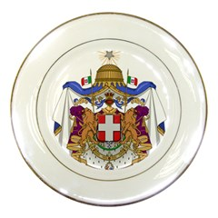 Greater Coat of Arms of Italy, 1870-1890  Porcelain Plates