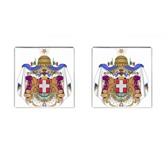 Greater Coat of Arms of Italy, 1870-1890  Cufflinks (Square)