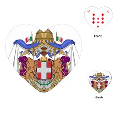 Greater Coat of Arms of Italy, 1870-1890  Playing Cards (Heart)