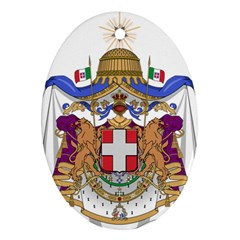 Greater Coat of Arms of Italy, 1870-1890  Oval Ornament (Two Sides)