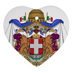 Greater Coat of Arms of Italy, 1870-1890  Heart Ornament (Two Sides)