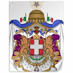 Greater Coat of Arms of Italy, 1870-1890  Canvas 12  x 16