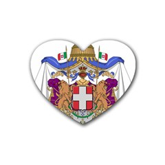 Greater Coat of Arms of Italy, 1870-1890  Heart Coaster (4 pack)