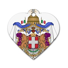 Greater Coat of Arms of Italy, 1870-1890  Dog Tag Heart (One Side)