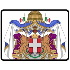 Greater Coat of Arms of Italy, 1870-1890  Fleece Blanket (Large)