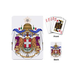 Greater Coat of Arms of Italy, 1870-1890  Playing Cards (Mini)