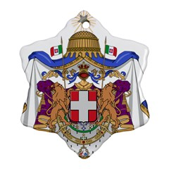 Greater Coat of Arms of Italy, 1870-1890  Ornament (Snowflake)