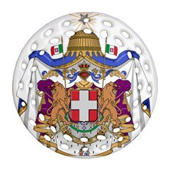 Greater Coat of Arms of Italy, 1870-1890  Round Filigree Ornament (Two Sides)