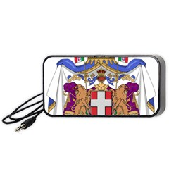 Greater Coat of Arms of Italy, 1870-1890  Portable Speaker (Black)