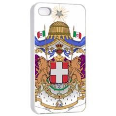 Greater Coat of Arms of Italy, 1870-1890  Apple iPhone 4/4s Seamless Case (White)