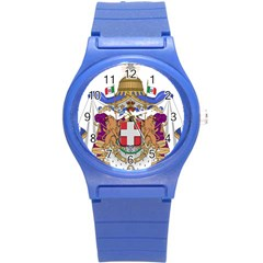 Greater Coat of Arms of Italy, 1870-1890  Round Plastic Sport Watch (S)