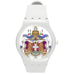 Greater Coat of Arms of Italy, 1870-1890  Round Plastic Sport Watch (M)