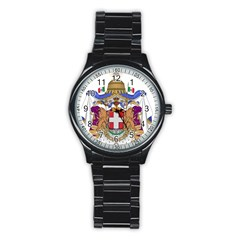 Greater Coat of Arms of Italy, 1870-1890  Stainless Steel Round Watch