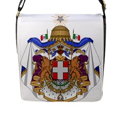 Greater Coat of Arms of Italy, 1870-1890  Flap Messenger Bag (L)
