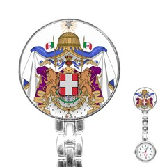 Greater Coat of Arms of Italy, 1870-1890  Stainless Steel Nurses Watch