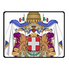 Greater Coat of Arms of Italy, 1870-1890  Double Sided Fleece Blanket (Small)