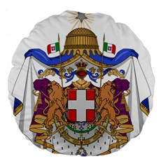 Greater Coat of Arms of Italy, 1870-1890  Large 18  Premium Flano Round Cushions