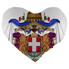 Greater Coat of Arms of Italy, 1870-1890  Large 19  Premium Flano Heart Shape Cushions