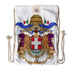 Greater Coat of Arms of Italy, 1870-1890  Drawstring Bag (Large)