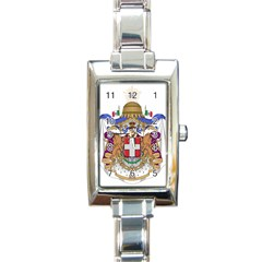 Greater Coat of Arms of Italy, 1870-1890 Rectangle Italian Charm Watch