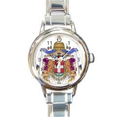 Greater Coat of Arms of Italy, 1870-1890 Round Italian Charm Watch