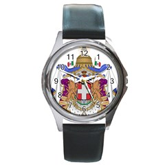 Greater Coat of Arms of Italy, 1870-1890 Round Metal Watch