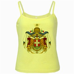 Greater Coat of Arms of Italy, 1870-1890 Yellow Spaghetti Tank