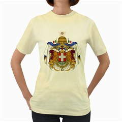 Greater Coat of Arms of Italy, 1870-1890 Women s Yellow T-Shirt
