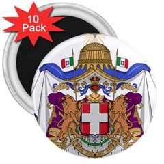 Greater Coat of Arms of Italy, 1870-1890 3  Magnets (10 pack)