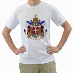 Greater Coat of Arms of Italy, 1870-1890 Men s T-Shirt (White) (Two Sided)