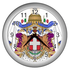 Greater Coat of Arms of Italy, 1870-1890 Wall Clocks (Silver)