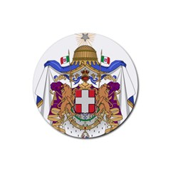 Greater Coat of Arms of Italy, 1870-1890 Rubber Coaster (Round)