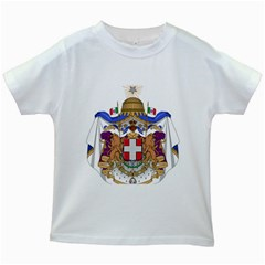 Greater Coat of Arms of Italy, 1870-1890 Kids White T-Shirts