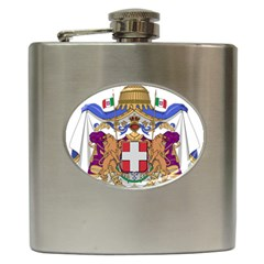 Greater Coat of Arms of Italy, 1870-1890 Hip Flask (6 oz)