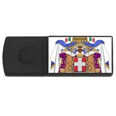 Greater Coat of Arms of Italy, 1870-1890 USB Flash Drive Rectangular (2 GB)