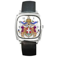 Greater Coat of Arms of Italy, 1870-1890 Square Metal Watch