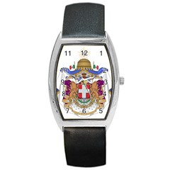 Greater Coat of Arms of Italy, 1870-1890 Barrel Style Metal Watch