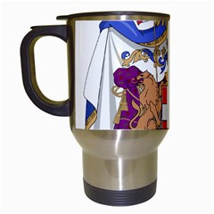 Greater Coat of Arms of Italy, 1870-1890 Travel Mugs (White)